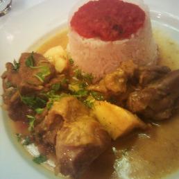 Indian lamb curry (signature dish)