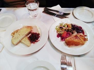 foie gras parfait (left)